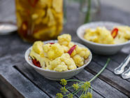 Curry Pickled Cauliflower found on PunkDomestics.com